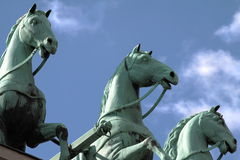 quadriga πυλών του Βερολίνου brandenbourg Στοκ φωτογραφίες με δικαίωμα ελεύθερης χρήσης