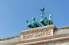 Quadriga πυλών του Βραδεμβούργου Στοκ εικόνα με δικαίωμα ελεύθερης χρήσης