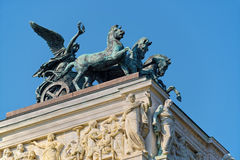 Quadriga χαλκού άγαλμα στο αυστριακό Κοινοβούλιο στη Βιέννη Στοκ φωτογραφία με δικαίωμα ελεύθερης χρήσης