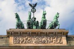 Quadriga atop the Brandenburg Gate Stock Image