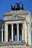 Quadriga av frihet av Paolo Bartolini, Altair av fäderneslandet, också som är bekant som den Vittoriano monumentet till Vittorio  Arkivfoton