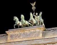 Quadriga bovenop de Piek Brandenburger Royalty-vrije Stock Afbeelding
