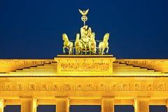 Quadriga on Brandenburg gate Royalty Free Stock Photos