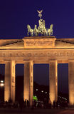 Quadriga of Brandenburg Gate, Berlin Royalty Free Stock Images