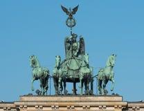 Quadriga on the Brandenburg Gate Royalty Free Stock Photos
