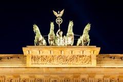 Quadriga on Brandenburg Gate, Berlin Stock Photos
