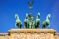 Quadriga of the Brandenburg Gate in Berlin stock photo
