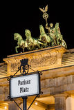 Quadriga on Brandenburg Gate, Berlin, Germany Stock Photography