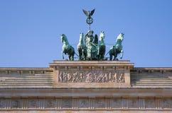 Quadriga of Brandenburg Gate in Berlin Royalty Free Stock Photos