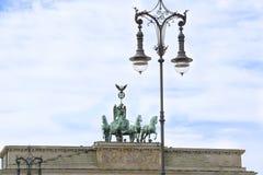 Quadriga Brandenburg Gate in Berlin Royalty Free Stock Photo