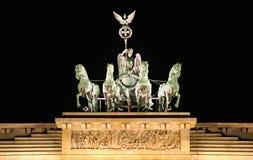 Quadriga da porta de Berlim Brandebourg Imagem de Stock Royalty Free