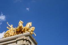 Quadriga De l'Aurora rzeźba przy Ciutadella parkiem w Barcelona obrazy stock