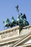 Quadriga, de Poort van Brandenburg Royalty-vrije Stock Afbeeldingen