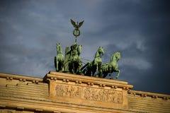 Quadriga de victoire, Porte de Brandebourg Photos stock