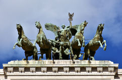 Quadriga with Goddess of Justice Stock Image