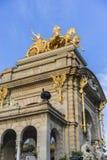 Quadriga, Golden horses and gargoyles in the Citadel Park in Bar Stock Photos