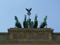 Quadriga na porta de Brandemburgo em Berlim, Alemanha Fotos de Stock Royalty Free