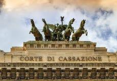 Quadriga nach Corte di Cassazione, das Oberste Gericht der Aufhebung, Rom, Italien lizenzfreie stockfotografie