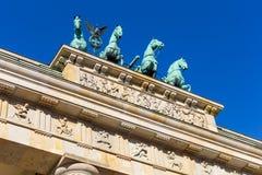 Quadriga op de Poort van Brandenburg Royalty-vrije Stock Afbeeldingen