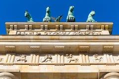 Quadriga op de Poort van Brandenburg Royalty-vrije Stock Afbeelding