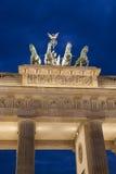 Quadriga Sculpture by Gottfried on Brandenburg Gate; Berlin Royalty Free Stock Photo