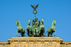Quadriga sul tor di Brandenburger Immagini Stock Libere da Diritti
