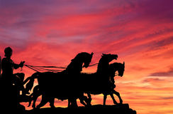 Quadriga sunset Stock Images