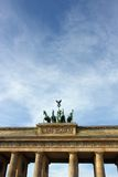 Quadriga on the top of Brandenbrurg gate in Berlin, Germany Stock Images