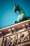 The Quadriga on top of the Brandenburg gate, Berlin.  stock photography