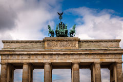 Quadriga on Top of the Brandenburger Tor (Brandenburg Gate) Royalty Free Stock Photography