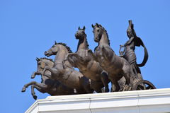 Quadriga on the top of the New Opera in Astana Stock Images