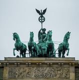 Quadriga on the triumphal arch Royalty Free Stock Photo
