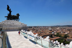 Quadriga of unity at top of Altar of Fatherland. In Rome, Italy Royalty Free Stock Image
