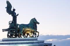 Quadriga van Vrijheid op Vittoriano-bovenkant Royalty-vrije Stock Afbeelding