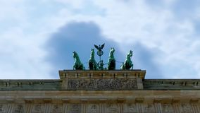 Quadriga von Brandenburger Tor stock video footage