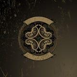 Quadrilátero ornamentado de madeira velho de Grunge ilustração royalty free