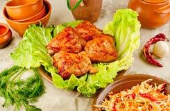 Quadris da galinha cozidos Fotografia de Stock