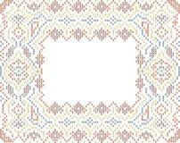 quadro étnico Cruz-costurado do estilo Imagem de Stock