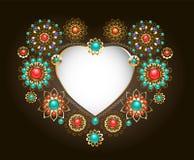 Quadro étnico na forma do coração Imagem de Stock Royalty Free