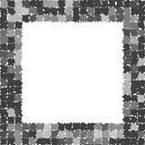 Quadro abstrato com bordas irregulares ásperas Quadro cinzento da foto Foto de Stock