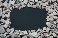 Quadro abstrato com madeira branca Foto de Stock