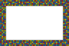 Quadro abstrato com quadrados coloridos Imagens de Stock
