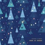 Quadro abstrato das árvores de Natal do feriado do vetor Imagem de Stock Royalty Free