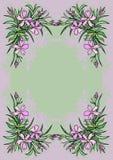 Quadro abstrato das flores Foto de Stock Royalty Free