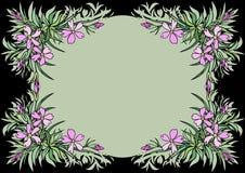 Quadro abstrato das flores Imagem de Stock Royalty Free