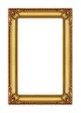 quadro antigo do ouro no fundo branco Foto de Stock Royalty Free