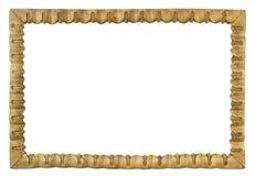 Quadro antigo, quadro retro, isolat dourado de madeira do quadro do victorian Imagem de Stock