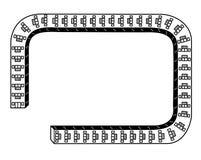 Quadro - arranha-céus imagens de stock royalty free