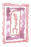 Quadro artístico do vintage com textura cosmética do batom natural para a criação do convite do casamento da beleza Foto de Stock Royalty Free