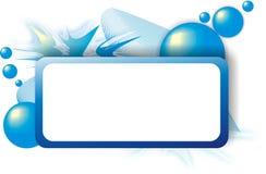 Quadro azul abstrato fotografia de stock